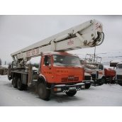 Оренда ліктьової автовишки ВС-28 250 кг 28 м