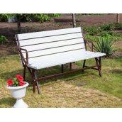 Набір садових меблів Nk Plast стіл-лавки Трансформер Атлант 3в1 Шоколад Білий