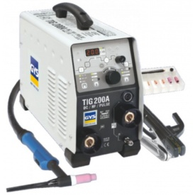 Аппарат аргоно-дуговой сварки Gys TIG 200 DC HF FV SR17DB с аксессуарами