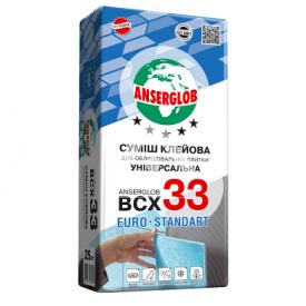Клеевая смесь для плитки Ансерглоб ВСХ-33 25 кг