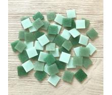 Скляна мозаїка Eco-Mosaic 20х20 мм 33х33 см зелена мікс (MDA431)