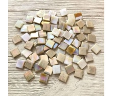Скляна мозаїка Eco-Mosaic 15х15 мм 33х33 см бежева (MRY545)
