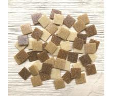 Скляна мозаїка Eco-Mosaic 20х20 мм 33х33 см бежева мікс (MDA546)