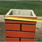 Столб клинкерного забора сплошной 22х22х142 см