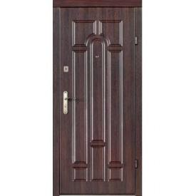 Двері вхідні Redfort АРКА Економ темний горіх 860х2050 мм