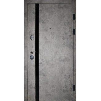 Двери входные Redfort ЛОФТ Элит  базальт+черный молдинг 860х2040 мм