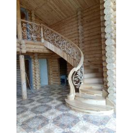 Изготовление лестницы из ясеня на радиусной тетиве