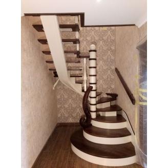 Виготовлення дерев`яних сходів з металевим каркасом