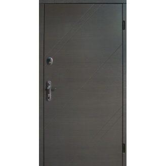 Двери входные Redfort АЛЬФА улица Оптима плюс венге горизонт серая 860х2040 мм