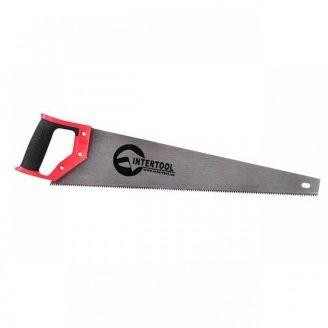 Ножівка по дереву з розжареним зубом 500мм INTERTOOL HT-3103 55 HRC