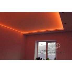 Натяжной потолок глянцевый 0,17 мм оранжевый