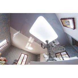 Монтаж глянцевого натяжного потолка