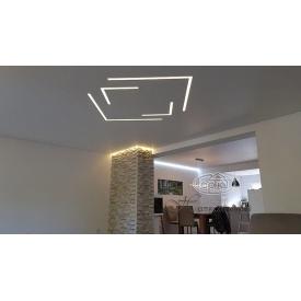 Монтаж натяжного потолка с подсветкой