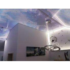Монтаж натяжного потолка Небо