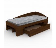 Кровать Компанит-90+1 204х70х94 орех