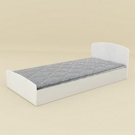 Ліжко Компаніт Ніжність-90 МДФ 204х70х98 німфея альба