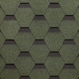 Битумная черепица Руфмаст сота Зеленый