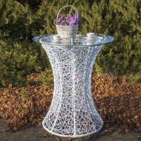 Садовый столик Лайт из ротанга