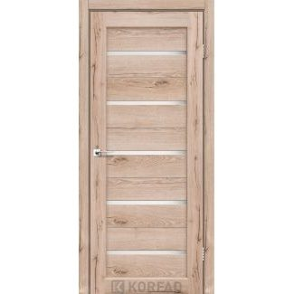 Дверное полотно Korfad PORTO PR-02 дуб тобакко сатин белый 700х2000 мм Sincrolam
