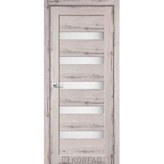 Дверное полотно Korfad PORTO PR-03 дуб нордік сатин белый 700 х2000 мм Sincrolam