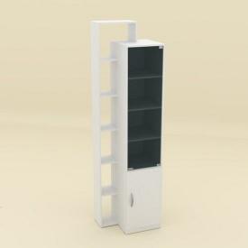Шкаф-10 Компанит 215х60х46 нимфея альба