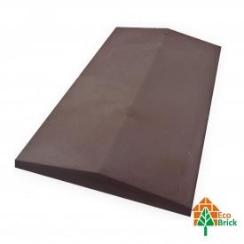 Конек для забора бетонный 580х500 мм коричневый