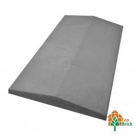 Конек для забора бетонный 300х490 мм серый
