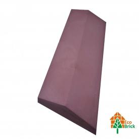 Конек для забора бетонный 180х500 мм красный