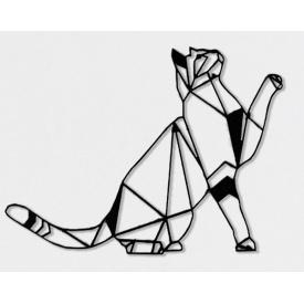 Геометричний настінний декор Кіт SO decor дерево (0108)