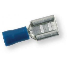 Клема обтискна ізольована МАМА синя 6,3х0,8 мм