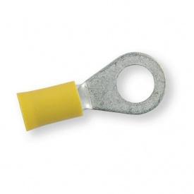 Клема обтискна ізольована Berner жовта кільцева 8,4 мм