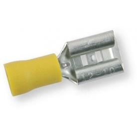 Клема обтискна ізольована МАМА жовта 9,5х1,2 мм