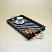 Поднос деревянный Венге для кухни 500х300х45 мм