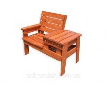 Скамейка со столиком для отдыха Пол Первая Кальвадос 100х70х80 см