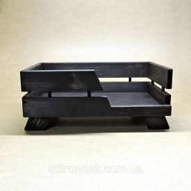 Лежак дерев'яний для собаки Венге 225х900х700 мм