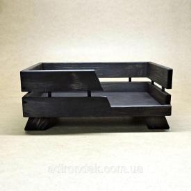 Лежак деревянный для собаки Венге 225х900х700 мм