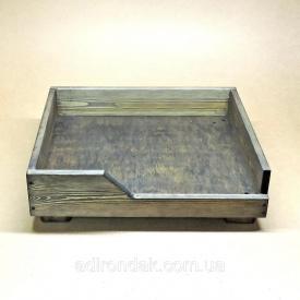 Лежак дерев'яний для собаки Моріон 165х640х540 мм