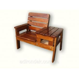 Скамейка со столиком для отдыха Пол Первая 100x70x80 см