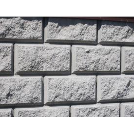 Блок строительный односторонний серый 390х190х190 мм