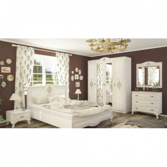 Спальня Мебель-Сервис Милан 4 д белая