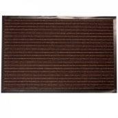 Придверный грязезащитный коврик на резиновой основе с окантовкой Condor Entree 40х60 коричневый