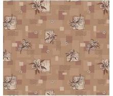 Ковролин для дома Лилия коричневый на войлочной основе цветной 2500