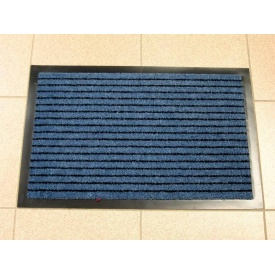 Придверный грязезащитный коврик на резиновой основе с окантовкой Condor Entree 40х60 Синий