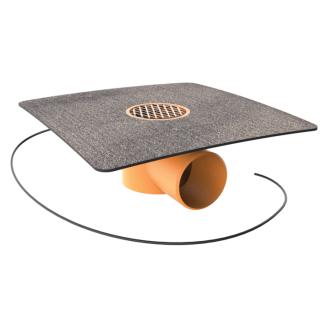 Воронка водосточная TOPWET TWBЕ 50 BIT V для балконов с приваренным фартуком из рулонного битумно-полимерного материала