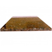 Гранітна плитка полірована Капустинського р-ща  Rosso Santiago 600х300х14 мм