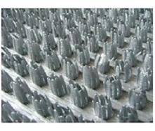 Рулонне брудозахисне вхідне щетинисте пластикове покриття 12х900х15000 мм металік сірий