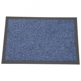 Придверный грязезащитный коврик на резиновой основе с окантовкой Condor Entree 90х150 Синий