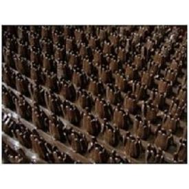 Рулонне брудозахисне вхідне щетинисте пластикове покриття 12х900х15000 мм темно-коричневе