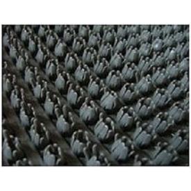 Рулонне брудозахисне вхідне щетинисте пластикове покриття 12х900х15000 мм темно-сіре