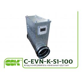 Електричний повітронагрівач канальний C-EVN-K-S1-100-0,6